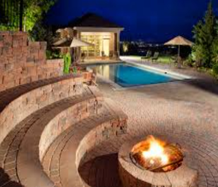 pool designs with fire features