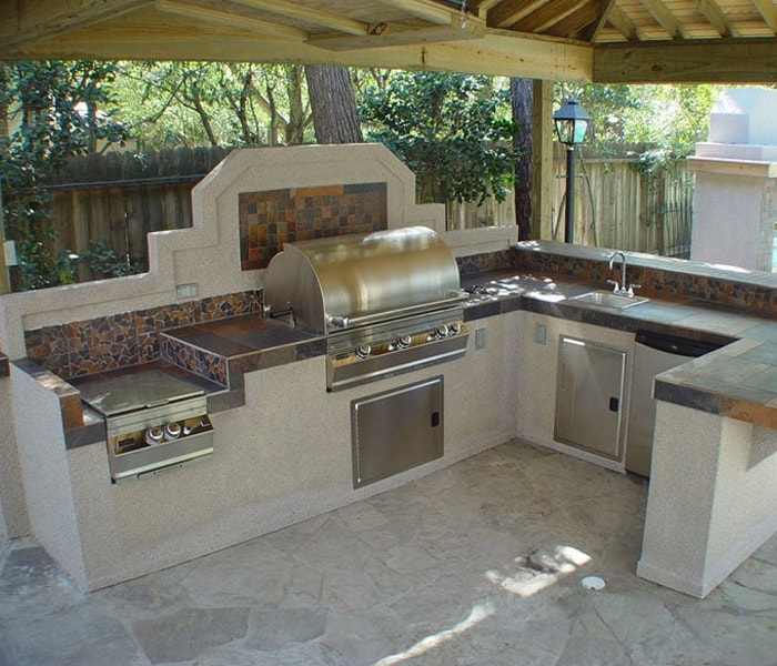 pool outdoor kitchen