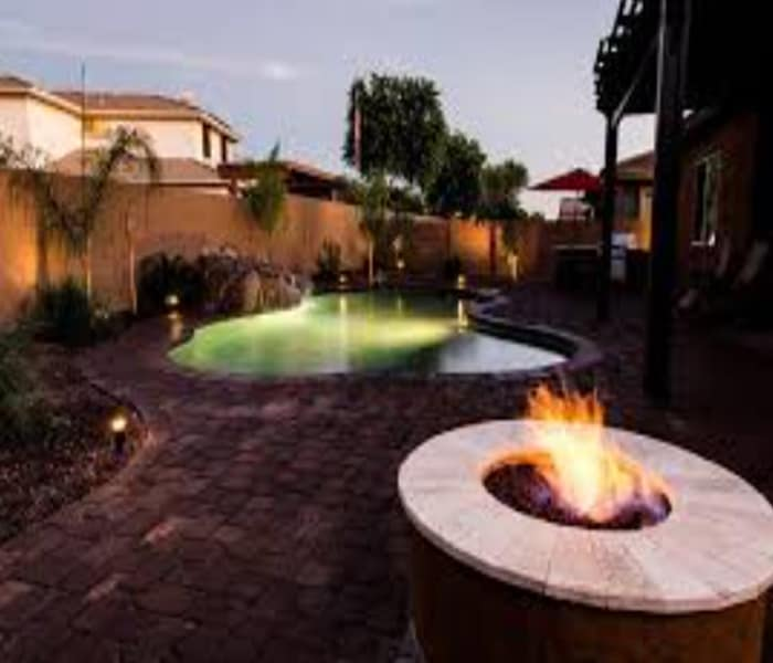 fire and water pots for pools