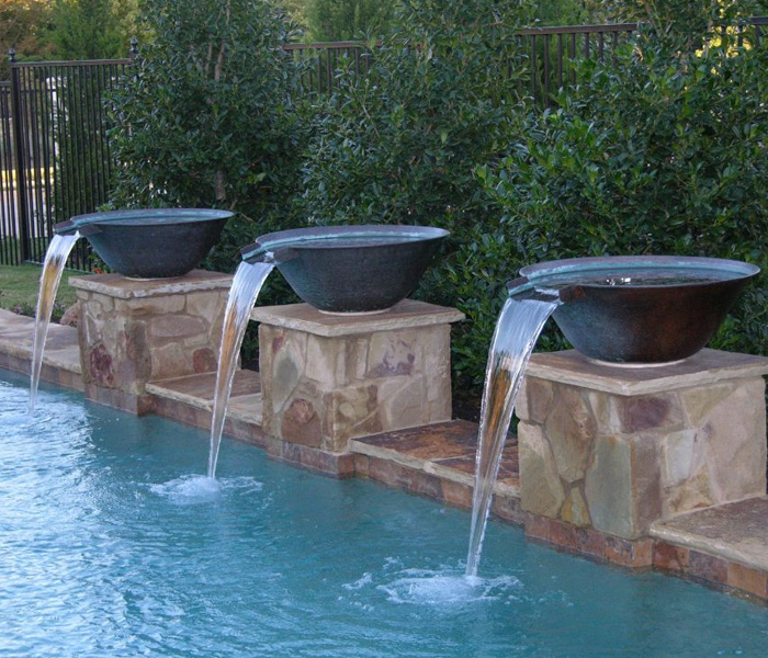 concrete water bowls for pools